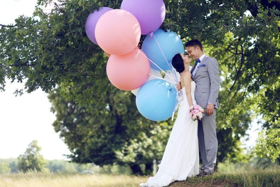 Большой воздушный шар с гелием